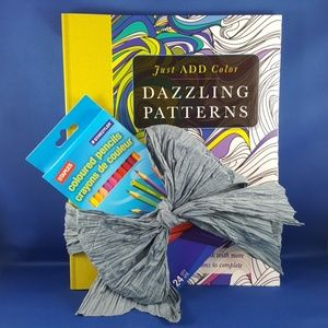 NEW Dazzling Patterns Coloring Book Gift Set